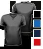 T-Shirt farbig mit V-Neck Halsausschnitt, vorne + hinten farbig bedruckt mit Ihrem Motiv