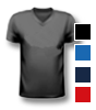 T-Shirt farbig mit V-Neck Halsausschnitt, vorne farbig bedruckt mit Ihrem Motiv