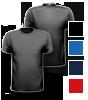 T-Shirt farbig mit rundem Halsausschnitt, vorne + hinten farbig bedruckt mit Ihrem Motiv