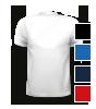 T-Shirt mit V-Neck Halsausschnitt, hinten bedruckt mit Ihrem Motiv