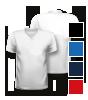 T-Shirt mit V-Neck Halsausschnitt, vorne + hinten bedruckt mit Ihrem Motiv