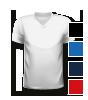 T-Shirt mit V-Neck Halsausschnitt, vorne bedruckt mit Ihrem Motiv