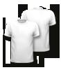 T-Shirt mit rundem Halsausschnitt, vorne + hinten bedruckt mit Ihrem Motiv