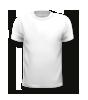 T-Shirt mit rundem Halsausschnitt, vorne bedruckt mit Ihrem Motiv